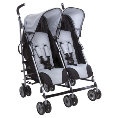 Hauck Turbo Duo Twin Pushchair, Grey