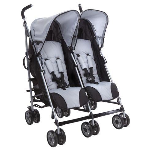 Hauck Turbo Duo Twin Pushchair, Grey