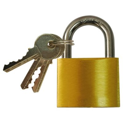 Tesco Brass Padlock 50mm