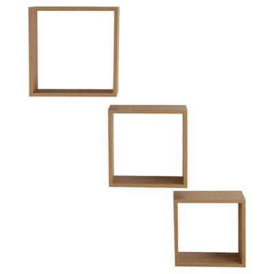 Oak Floating Triple Cubes