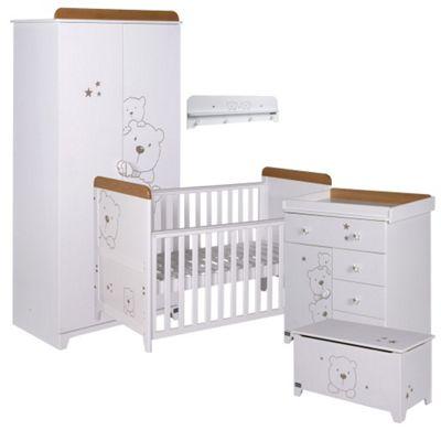 Tutti Bambini Bears 5 Piece Room Set, White