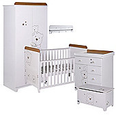 Tutti Bambini Bears 5 Piece Nursery Room Set, White