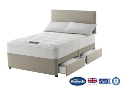 Silentnight Foxton King Size Divan Bed with 4 Drawers, 1000 Pocket Memory