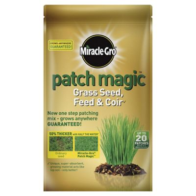 Miracle-Gro Patch Magic Grass Seed, Feed & Coir, 1.5kg