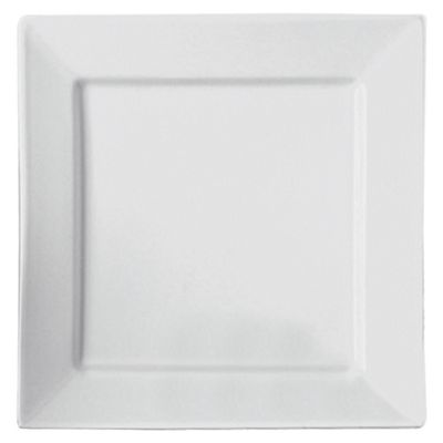 Square Super White Porcelain Side Plate