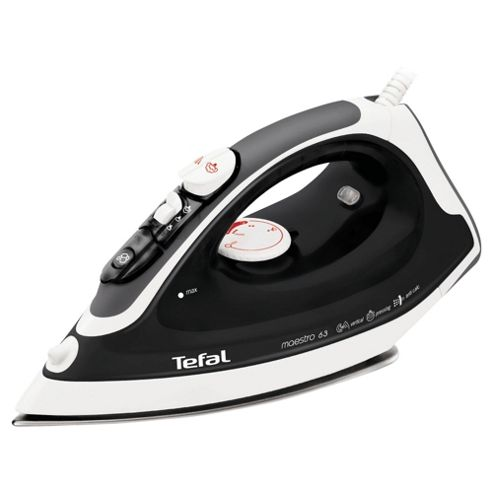 Tefal FV3763 variable Steam Iron with Stainless Steel Plate - Black