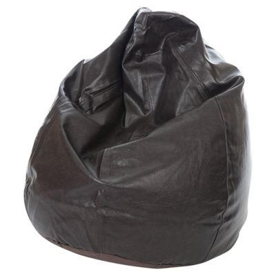 Kaikoo Faux Leather Teardrop Bean Bag, Brown