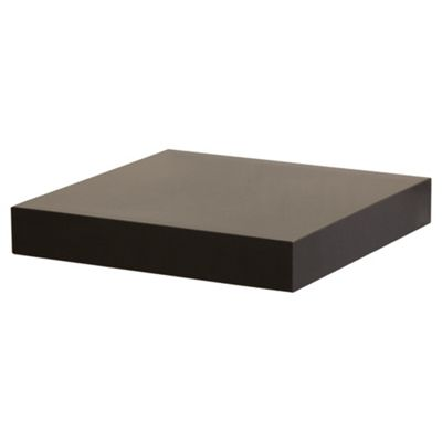High Gloss Black Floating Shelf 23.5cm