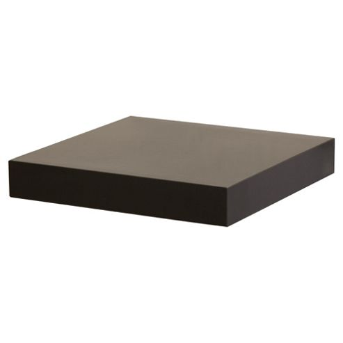 High Gloss Black Floating Shelf 23.5cm