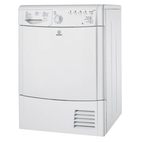 Indesit IDCA8350 Condenser Tumble Dryer, 8kg Load, C Energy Rating. White