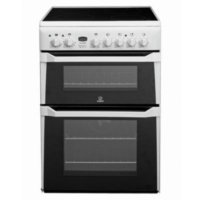 Indesit ID60C2W White Ceramic Double Oven  Electric Cooker
