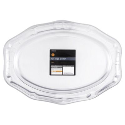 Tesco Set of 2 Large Foil Regal Platters