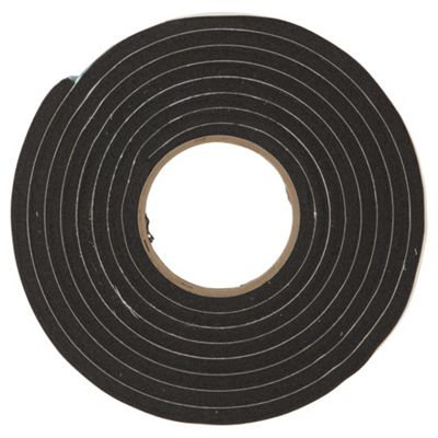 Stormguard Extra Thick Weather Strip Draught Excluder, 3.5m, Black