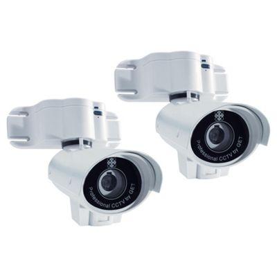 GET Heavy Duty Twin B&W CCTV Camera System