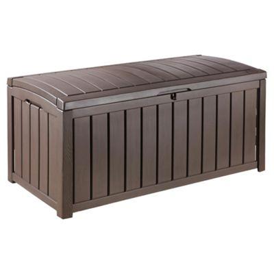 Keter Glenwood Plastic Garden Storage Box  390LGarden Storage   Garden   Tesco. Outside Storage Bins Uk. Home Design Ideas