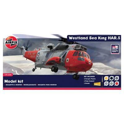 Airfix A50113 Royal Navy Westland Sea King HAR.5 1:72 Scale Military Aircraft Diorama Gift Set