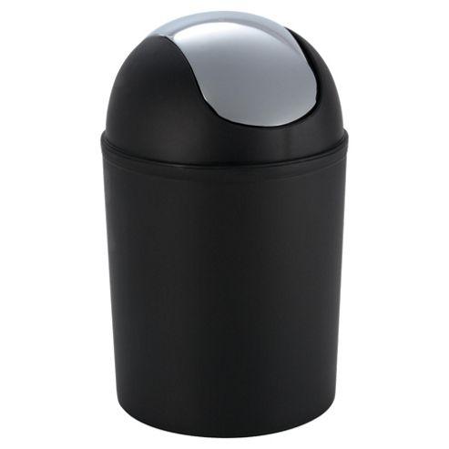 Tesco plated bin black
