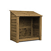 Greetham wooden log store - 4ft