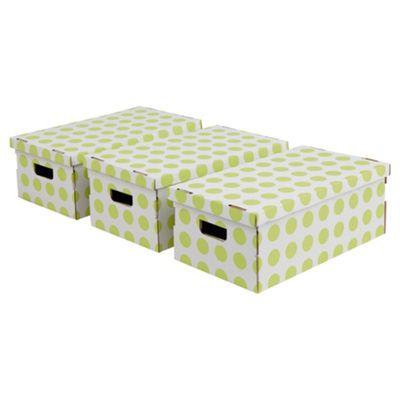 Pois Boxes Set, 3 Piece - Green