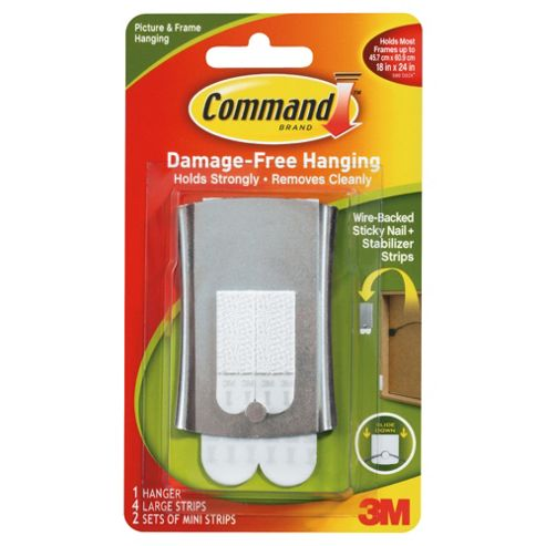 Command wire backed stocky nail and stabilizer strips
