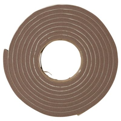 Extra Thick Rubber Self Adhesive Draught Excluder Brown