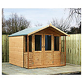 Mercia Wooden Summerhouse with Veranda, 8x7ft