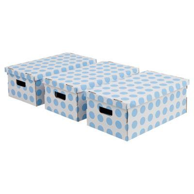 Pois boxes set, 3 piece blue