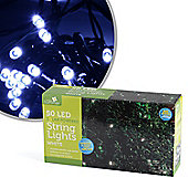 Solar Powered 50 LED Bright White String Lights