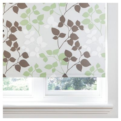 Bold Leaf Roller Blind 120x160cm Natural