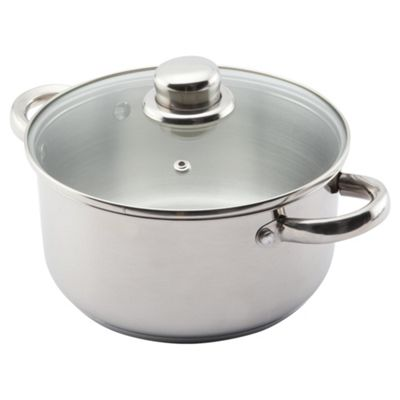Viners Elements 20cm Stainless Steel Double Handled Pan