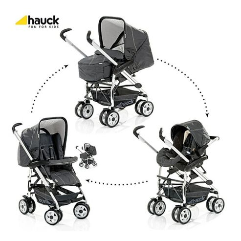 Hauck Eagle Trioset Pushchair Travel System, Charcoal