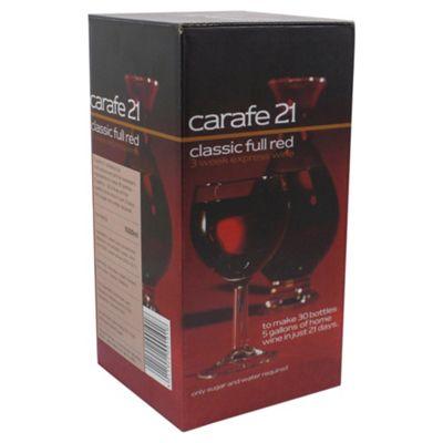 Carafe Classic Full Red Wine Kit, 30 bottles