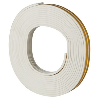 Rubber E Profile Self Adhesive Draught Excluder White
