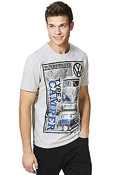 Volkswagen Camper Van Graphic T-Shirt - Grey marl