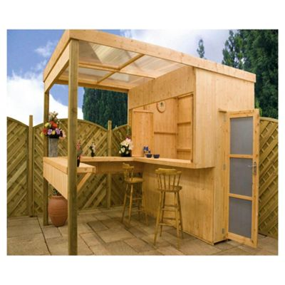 Contemporary Wooden Outdoor Bar Shelter