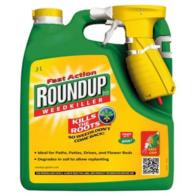 Roundup Fast Action Liquid Weedkiller Spray 3L, 90m2