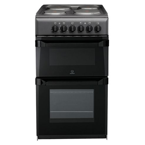 Indesit It50Ea Anthtracite Twin Electric Cooker