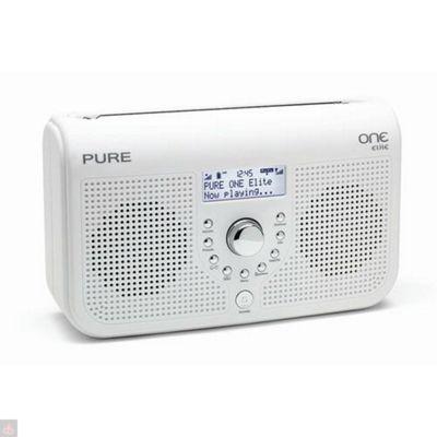 Pure One Elite Portable Stereo DAB/FM Radio - White