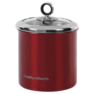 Morphy Richards 17x13.5cm Storage Canister, Red