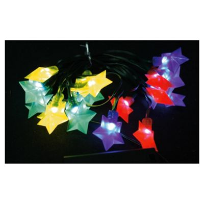 Tesco led multi coloured star lights 20 bulbs