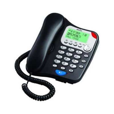 Binatone Two Piece Corded Telephone With Speakerphone Black