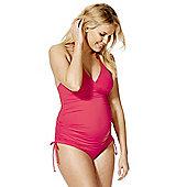 F&F Halterneck Maternity Tankini Swimsuit - Raspberry