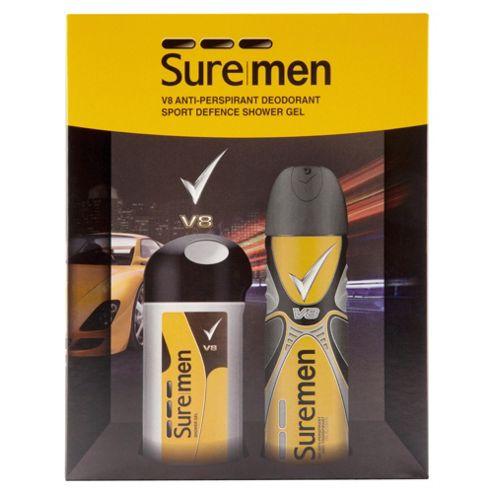 buy sure men v8 bodyspray bodygel from our men 39 s gift sets range tesco. Black Bedroom Furniture Sets. Home Design Ideas