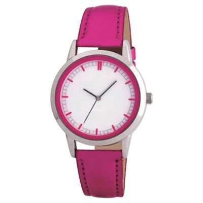 Metallic Pink Strap Watch Ladies
