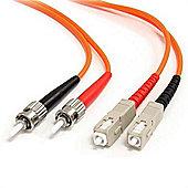 StarTech 3m Multimode 62.5/125 Duplex Fiber Patch Cable ST - SC