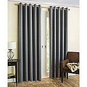 Enhanced Living Byron Eyelet Blockout Lined Curtains Charcoal - 66x54 Inches (168x137cm)