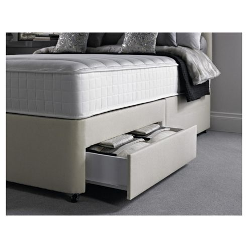 Silentnight Foxton Single Divan Bed with 2 Drawers, 1000 Pocket Memory
