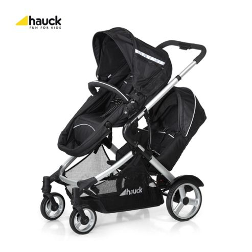Hauck Duett Twin Pushchair, Black