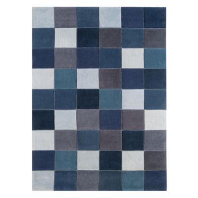 Tesco Rugs Eden Pixel Rug Blue 160x230cm