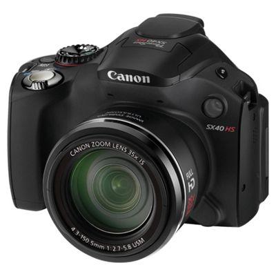 Canon PowerShot SX40 HS Digital Camera Black